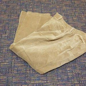 Velour tan pants